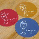 ワインバー、chapeauのロゴマークを制作しました